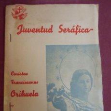 Coleccionismo: JUVENTUD SERAFICA.CORISTAS FRANCISCANOS.ORIHUELA(ALICANTE)FOTOS ORIGINALES.INTERESANTE,AÑOS 40.RARA.. Lote 207230143