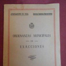 Coleccionismo: AYUNTAMIENTO DE CIEZA(MURCIA)ORDENANZAS MUNICIPALES DE EXACCIONES.AÑO 1950.. Lote 207230785