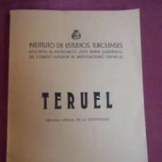 Coleccionismo: TERUEL.ORGANO OFICIAL DE LA INSTITUCION.ENERO-JUNIO 1953.INSTITUTO DE ESTUDIOS TUROLENSES.. Lote 207230886