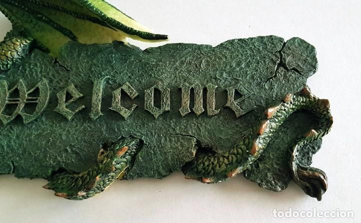 Coleccionismo: WELCOME PLACA COLGAR RESINA DRAGON - Foto 4 - 207473836