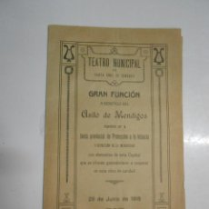 Coleccionismo: ANTIGUO FOLLETO PROGRAMA EN EL TEATRO MUNICIPAL DE SANTA CRUZ DE TENERIFE 1918. Lote 207880375