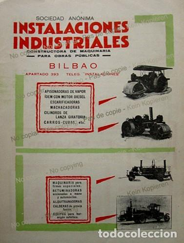 PPIOS 1900-CARTEL FABRICA MAQUINARIA-BILBAO-ALTOS HORNOS VIZCAYA-RASPEIG CEMENTO EL CALAMAR ALICANTE (Coleccionismo - Laminas, Programas y Otros Documentos)