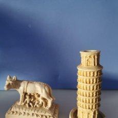 Coleccionismo: LOTE FIGURAS ROMULO Y REMO Y TORRE PISA. Lote 207996736