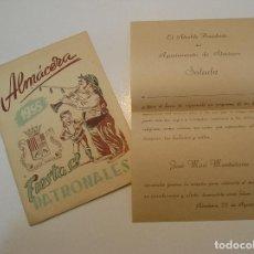 Colecionismo: ALMACERA ALMASSERA PROGRAMA FIESTAS Y CARTA DEL ALCALDE 1955. Lote 208111965