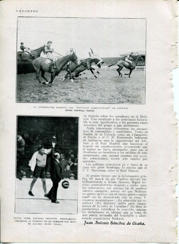 Coleccionismo: 3 HOJAS LÁMINA-FUTBOL-CAMPO ZARAGOZA Y CAMPO CARTAGENA-PAULINO UZCUDUN-AÑO 1927- - Foto 2 - 208154470