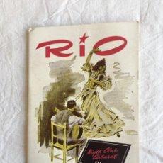 Coleccionismo: RIO. NIGHT CLUB CABARET. JOSEPHINE BAKER. GALAS EXTRA.., DEDICATORIA AUTÓGRAFA. BARCELONA,1956.. Lote 208409767