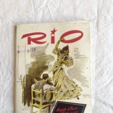 Coleccionismo: RIO. NIGHT CLUB CABARET. JOSEPHINE BAKER. GALAS EXTRA.., DEDICATORIA AUTÓGRAFA. BARCELONA,1956.. Lote 208411586