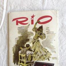 Coleccionismo: RIO. NIGHT CLUB CABARET. JOSEPHINE BAKER. GALAS EXTRA.., DEDICATORIA AUTÓGRAFA. BARCELONA,1956.. Lote 208414077