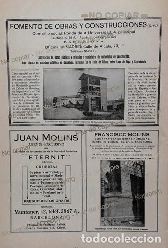 Coleccionismo: PPIOS. 1900-CARTEL-FABRICA ASFALTOS MAESTU-CEMENTO HISPANIA-YELES-CONSTRUCCIONES BARCELONA-MOLINS - Foto 2 - 209037770