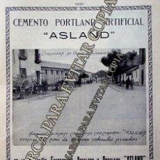 Coleccionismo: PPIOS. 1900-CARTEL-CEMENTO ASLAND BARCELONA OCAÑA ALICANTE-RENAULT DAMBORENEA-URIBASTERRA-BILBAO. Lote 209043642