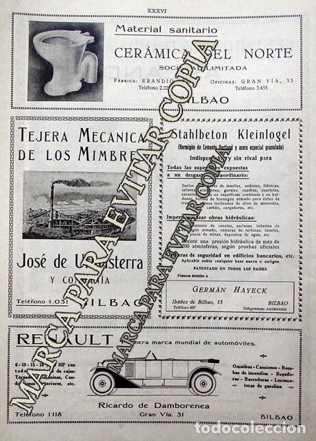 Coleccionismo: PPIOS. 1900-CARTEL-CEMENTO ASLAND BARCELONA OCAÑA ALICANTE-RENAULT DAMBORENEA-URIBASTERRA-BILBAO - Foto 2 - 209043642