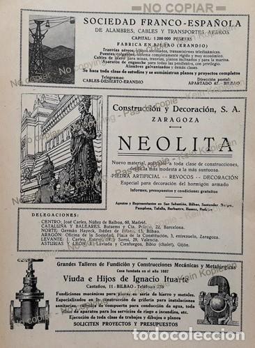Coleccionismo: PPIOS. 1900-CARTEL-R WOLF MAGDEBURG-ARREGUI BILBAO-JAREÑO APISONADORA-FRANCO ESPAÑOLA-ITUARTE-HIERRO - Foto 2 - 209045571