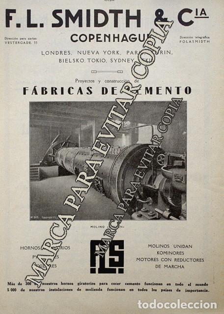 PPIOS. 1900-CARTEL-CEMENTO EL CABALLO MORON FRONTERA SEVILLA-SMIDTH & CIA COPENHAGUE FABRICA MOTOR (Coleccionismo - Laminas, Programas y Otros Documentos)