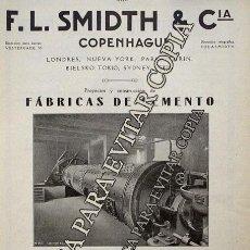 Coleccionismo: PPIOS. 1900-CARTEL-CEMENTO EL CABALLO MORON FRONTERA SEVILLA-SMIDTH & CIA COPENHAGUE FABRICA MOTOR. Lote 209045833