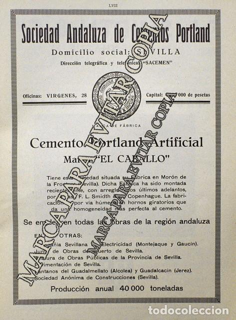 Coleccionismo: PPIOS. 1900-CARTEL-CEMENTO EL CABALLO MORON FRONTERA SEVILLA-SMIDTH & CIA COPENHAGUE FABRICA MOTOR - Foto 2 - 209045833