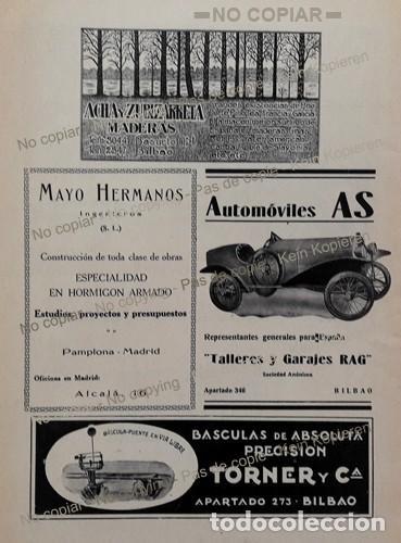 PPIOS 1900-CARTEL-FONDERIE BERNE FERROCARRIL-BUELNA HIERRO-AUTOMOVILES AS-TORNER BASCULA BILBAO-ACHA (Coleccionismo - Laminas, Programas y Otros Documentos)