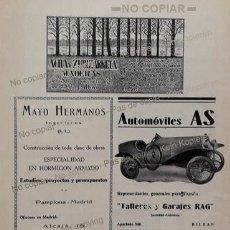 Coleccionismo: PPIOS 1900-CARTEL-FONDERIE BERNE FERROCARRIL-BUELNA HIERRO-AUTOMOVILES AS-TORNER BASCULA BILBAO-ACHA. Lote 209046123