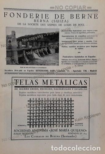 Coleccionismo: PPIOS 1900-CARTEL-FONDERIE BERNE FERROCARRIL-BUELNA HIERRO-AUTOMOVILES AS-TORNER BASCULA BILBAO-ACHA - Foto 2 - 209046123