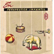Coleccionismo: TARJETA PUBLICIDAD EN TERAPÉUTICA INFANTIL HORTELINE DIHIDROESTREPTOMICINA. Lote 209060172