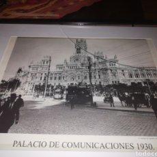 Coleccionismo: FOTOGRAFIA ENMARCADA DE PALACIO DE COMUNICACIONES 1930 MADRID. Lote 209216550