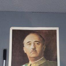 Coleccionismo: LÁMINA FOTOGRAFICA DEL EXCMO SR D. FRANCISCO FRANCO BAHAMONDE JEFE DEL ESTADO ESPAÑOL. Lote 209325830