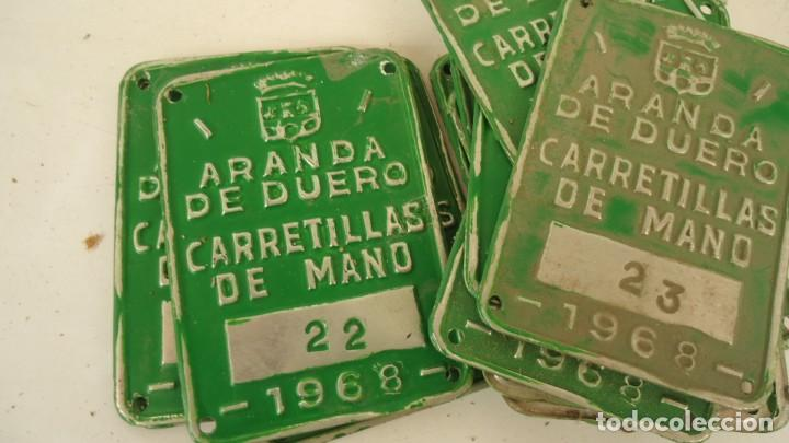 MATRICULAS PARA CARRETILLAS DE MANO 1968 (Coleccionismo - Varios)