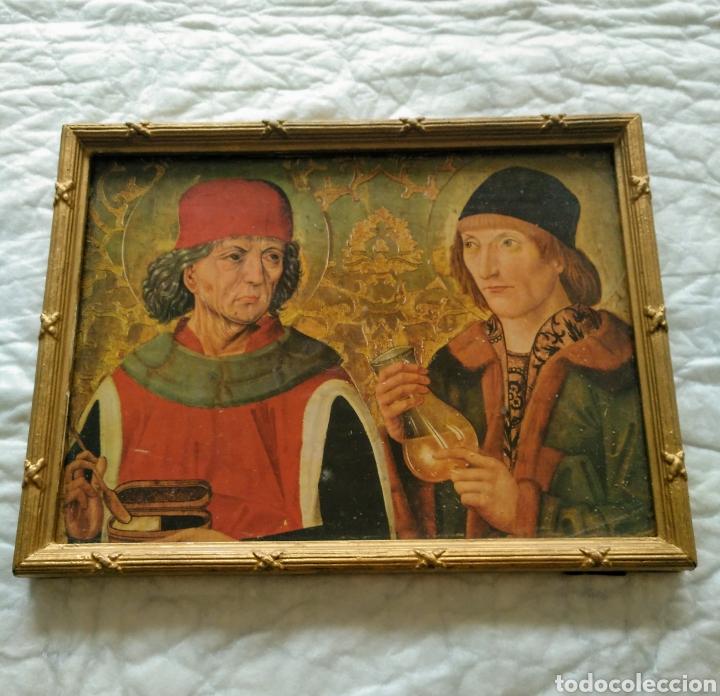 Coleccionismo: cuadro antiguo marco de madera. 20x26x2cm,401gr. - Foto 2 - 210202185