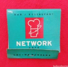 Coleccionismo: CAJA DE CERILLAS - BAR RESTAURANTE NETWORK - COCINA MUNDANA - DIAGONAL 616, BARCELONA - AÑOS 80/90. Lote 210348313