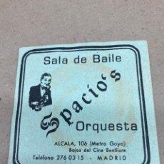 Coleccionismo: POSAVASOS DE CERVEZA SALA DE BSILE ESPACIOS. Lote 210649220