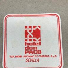 Coleccionismo: POSAVASOS DE CERVEZA HOTEL DON PACO. Lote 210651856