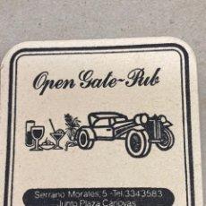Coleccionismo: POSAVASOS DE CERVEZA OPEN GATE PUB. Lote 210652729