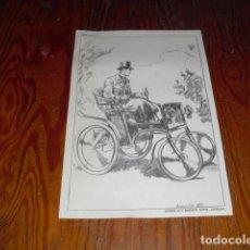Coleccionismo: 12 LÁMINAS DE APRENDIZAJE DE DIBUJO DE AUTOMÓVILES - AÑOS 50. Lote 211507989