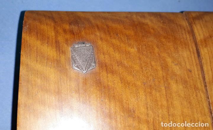 Coleccionismo: ANTIGUA CAJA DE TABACO PARA PUROS - CIGARRILLOS DE MADERA DE NOGAL CON DEPARTAMENTOS MITAD SIGLO XX - Foto 8 - 212005707