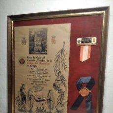 Coleccionismo: CUADRO CENA DE GALA DEL CAPÍTULO MUNDIAL DE LA CHAINE DES ROTISSEURS EN ESPAÑA - 1972 - CHARTREUSE. Lote 212561417