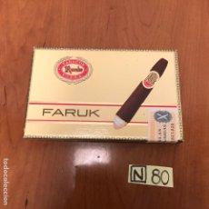 Coleccionismo: CAJA DE PUROS FARUK. Lote 212604551