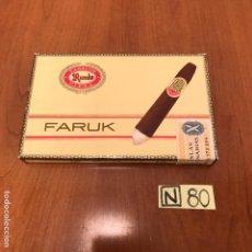Coleccionismo: CAJA DE PUROS FARUK. Lote 212604930