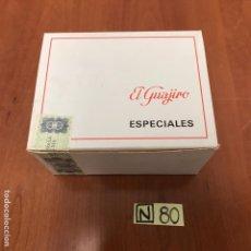 Coleccionismo: CAJA DE CAJAS DE PUROS EL GUAJIRO ESPECIALES. Lote 212606396