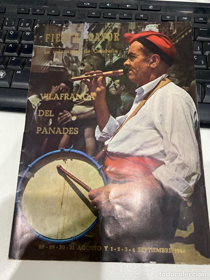 FIESTA MAYOR DE VILAFRANCA DEL PANADES (Coleccionismo - Laminas, Programas y Otros Documentos)