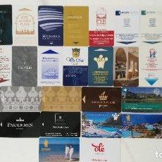 Coleccionismo: 33 TARJETAS LLAVES DE HOTEL. Lote 147168301