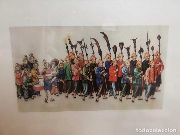 Coleccionismo: Lamina XIV arte chino Palacio Real Aranjuez enmarcada - Foto 2 - 213301021