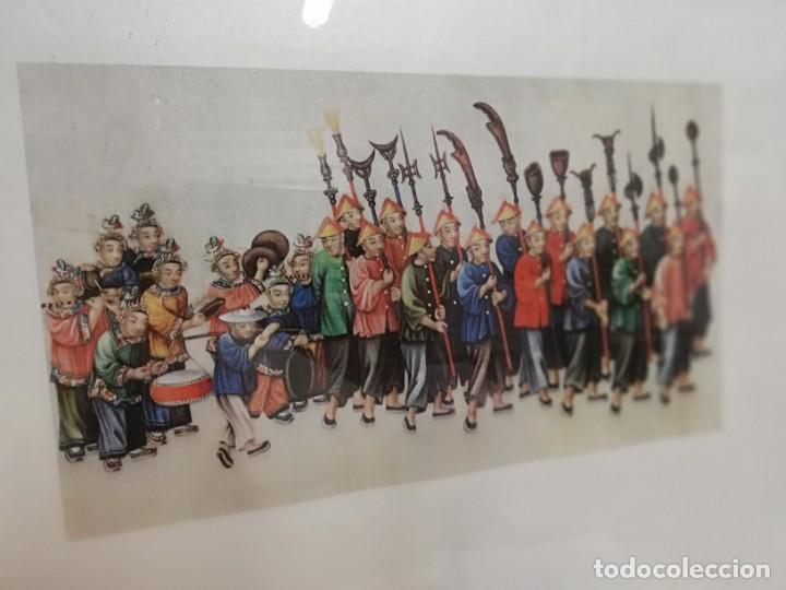 Coleccionismo: Lamina XIV arte chino Palacio Real Aranjuez enmarcada - Foto 3 - 213301021