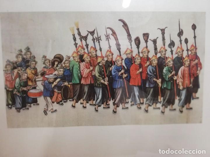 Coleccionismo: Lamina XIV arte chino Palacio Real Aranjuez enmarcada - Foto 4 - 213301021