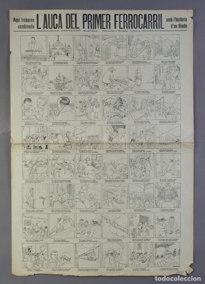 AUCA/ALELUYA L'AUCA DEL PRIMER FERROCARRIL, CENTENARI 1848-1948 (Coleccionismo - Laminas, Programas y Otros Documentos)