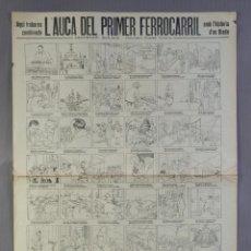 Coleccionismo: AUCA/ALELUYA L'AUCA DEL PRIMER FERROCARRIL, CENTENARI 1848-1948. Lote 213386817
