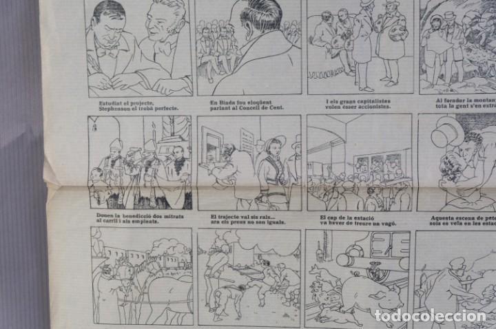 Coleccionismo: Auca/Aleluya L'auca del primer ferrocarril, Centenari 1848-1948 - Foto 4 - 213386817
