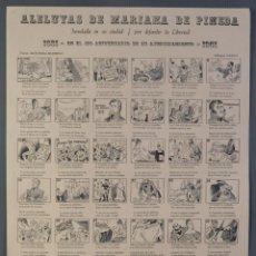 Coleccionismo: AUCA/ALELUYA ALELUYAS DE MARIANA DE PINEDA, INMOLADA EN SU CIUDAD, POR DEFENDER LA LIBERTAD, 1981. Lote 213386818