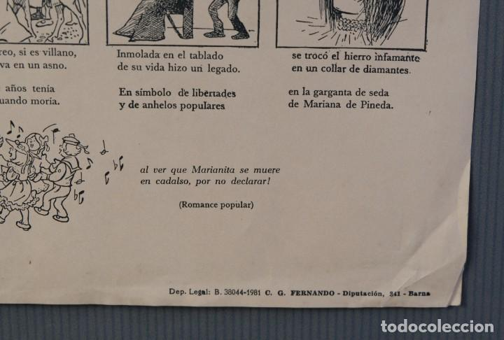 Coleccionismo: Auca/Aleluya Aleluyas de Mariana de Pineda, Inmolada en su ciudad, por defender la libertad, 1981 - Foto 4 - 213386818