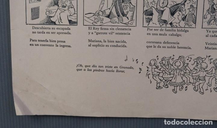 Coleccionismo: Auca/Aleluya Aleluyas de Mariana de Pineda, Inmolada en su ciudad, por defender la libertad, 1981 - Foto 5 - 213386818