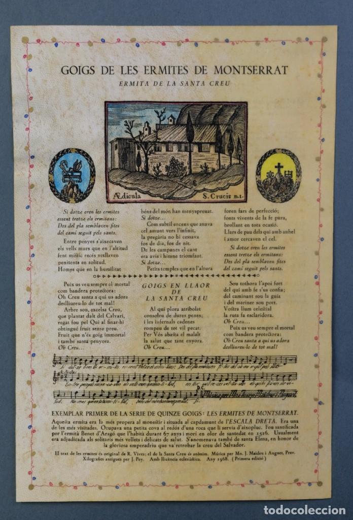 24 GOIGS/ALELUYAS DE LES ERMITES DE MONTSERRAT-PRIMERA EDICIÓN DE 1968-JOAN RIUS I VILA EDITOR (Coleccionismo - Laminas, Programas y Otros Documentos)