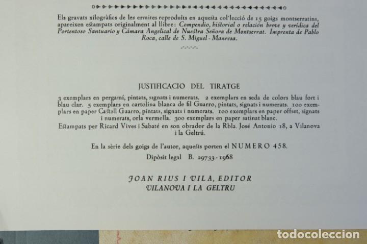 Coleccionismo: 24 Goigs/Aleluyas de les Ermites de Montserrat-Primera edición de 1968-Joan Rius i Vila Editor - Foto 3 - 213387720